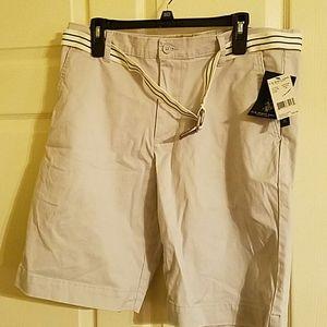 Men's U.S. Polo Assn Khaki Shorts with Belt